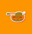 paper sticker on stylish background kids toy tank vector image