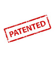 patented sign sticker stamp texture vector image vector image