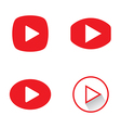 Play button icons vector image