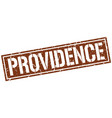 providence brown square stamp vector image vector image