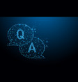question amp answer bubble chat form lines vector image