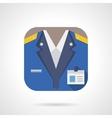 Railway staff flat color design icon vector image