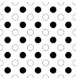 seamless abstract monochrome polka dot pattern vector image vector image