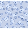 Seamless kawaii cartoon pattern with cute spiders vector image vector image