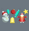 set of colored holiday christmas toys vector image vector image