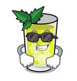super cool mint julep character cartoon vector image vector image
