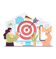 targeted ads reaching audience and internet vector image