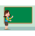 teacher and board vector image vector image