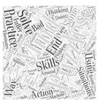 The Mind Puzzles in Action Word Cloud Concept vector image vector image