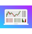 trading candlestick chart flat vector image
