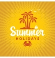Travel banner summer vacation vector image vector image