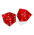Two red dices vector image