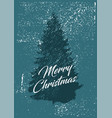 typographic christmas greeting card vector image vector image