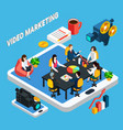 video business meeting composition vector image