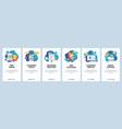 web site onboarding screens cleaning floor vector image