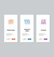 website design responsive design ux design vector image