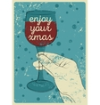 Typographic vintage style Christmas card design vector image