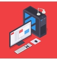 Isometric personal computer vector image