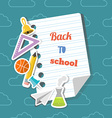 Back to school background and education icons vector image