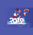 2019 new year design card with santa claus vector image vector image