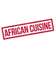 African Cuisine rubber stamp vector image vector image