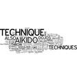 aikido technique text word cloud concept vector image vector image