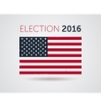 American election 2016 emblem badge logo with text vector image vector image