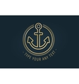 Anchor logo icon Sea vintage or sailor vector image
