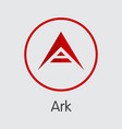 ark coin - cryptocurrency logo vector image