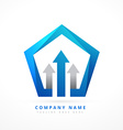 arrow lead blue business style logo template vector image