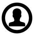 avatar icon black color in circle vector image vector image
