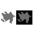 azerbaijan map hexagon scheme vector image vector image
