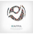 beautiful people sign 3d vector image vector image