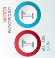 bed symbol sign vector image