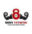 body fitness logo vector image vector image