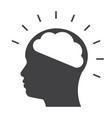 brainstorming icon vector image vector image