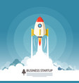 business startup symbol flat design rocket launch vector image vector image