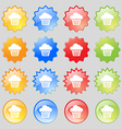 cake icon sign Big set of 16 colorful modern vector image