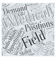 careers in medical field Word Cloud Concept vector image vector image