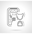 Cat selfie icon thin line style vector image