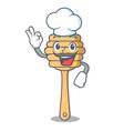 chef honey spoon character cartoon vector image