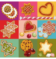 Christmas cookies vector image