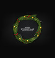 christmas wreath made naturalistic looking vector image vector image