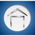 Concept metallic house symbol logo vector image vector image