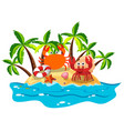 crabs live on island vector image
