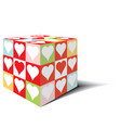 cube heart love vector image vector image
