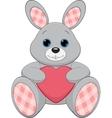 Cute plush bunny vector image vector image