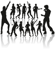 dancing and singing people vector image vector image