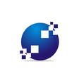 digital solutions logo design template vector image vector image