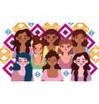 diversity women happy smiling women different vector image vector image